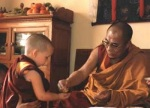 Osel Tenzin with HHDL